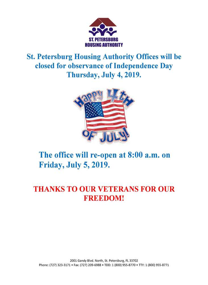 Independence Day Closure flyer