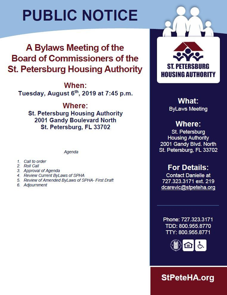Public Notice of Bylaws Meeting