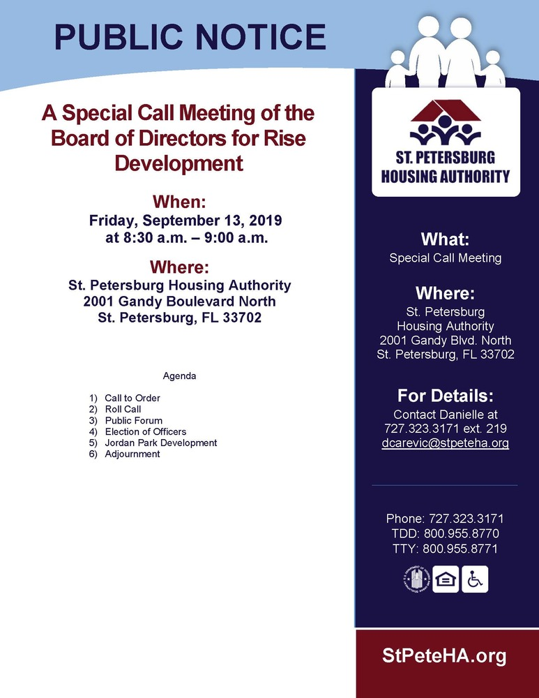 Rise Special Call Meeting 9.13.19