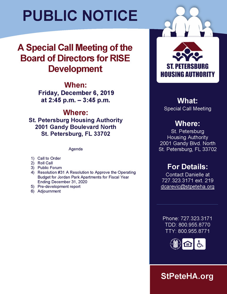 RISE Special Call Meeting 12.06.19_SPHA