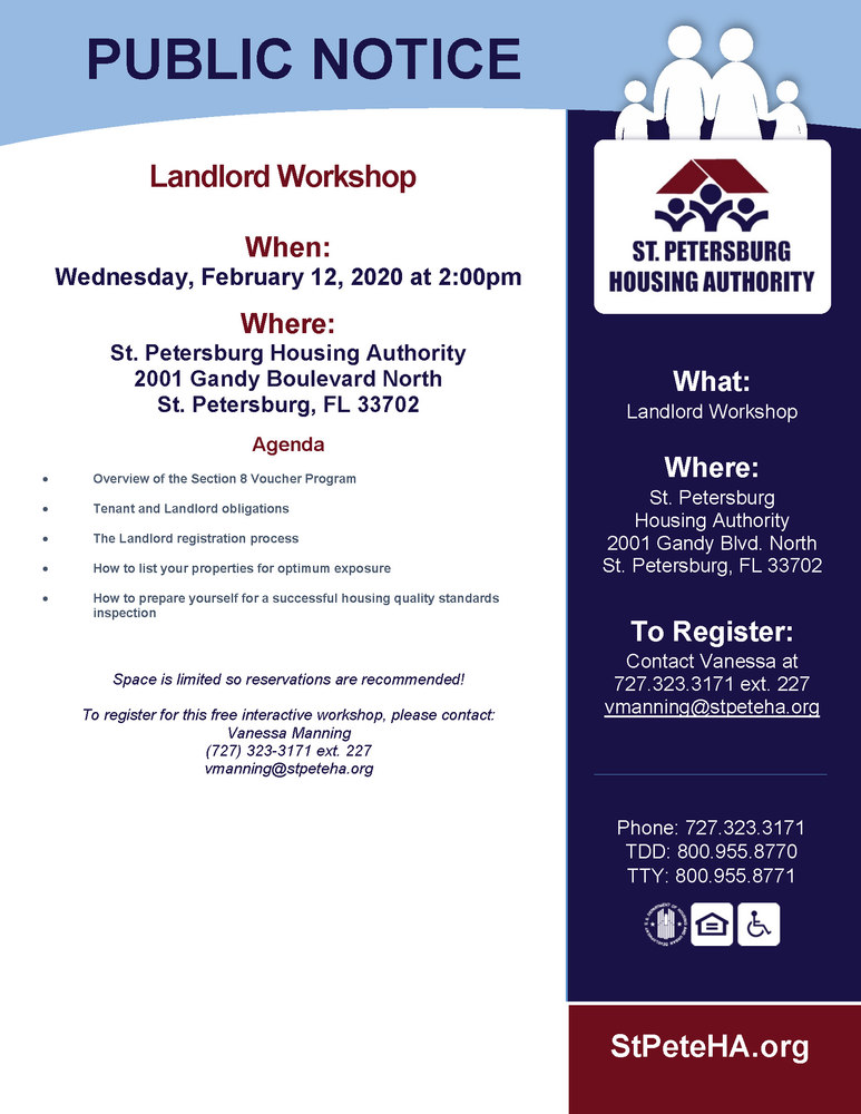 Landlord Workshop Notice