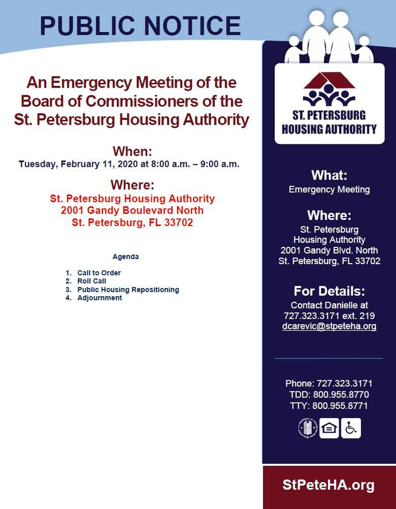 Emergency Meeting 2/11 Flyer