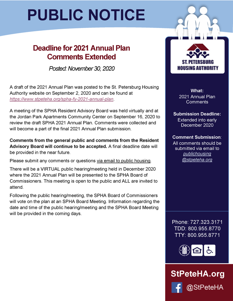 Annual Plan Public Notice