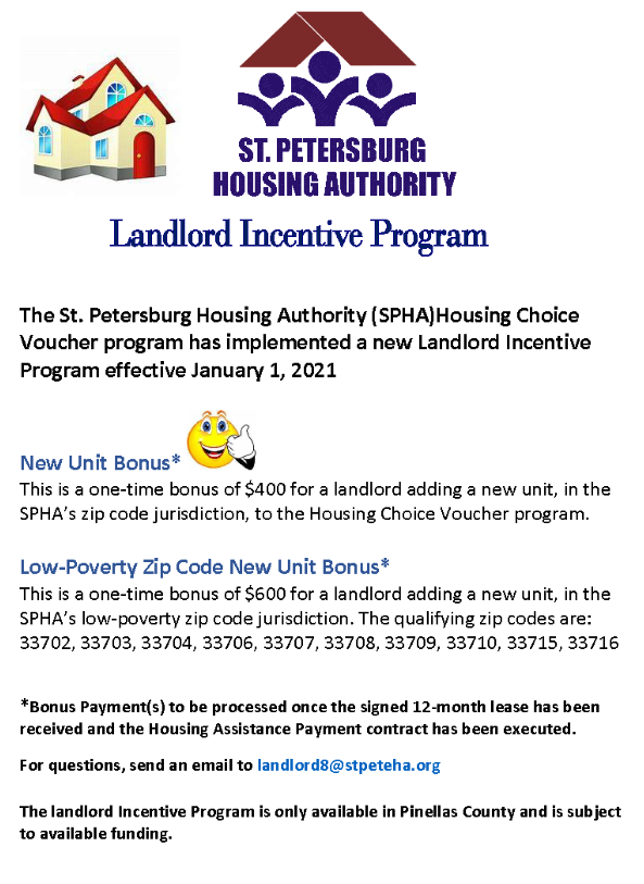 Landlord Incentive Program flyer