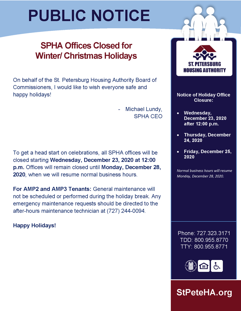 office closure public notice