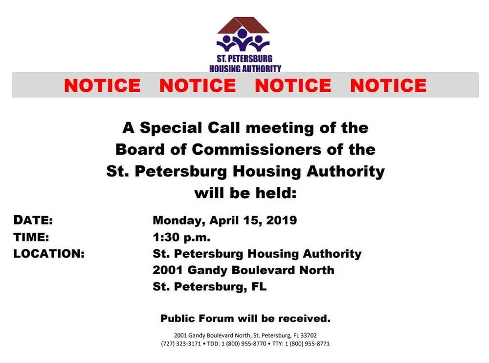 SPHA 4/15 Special Meeting Notice