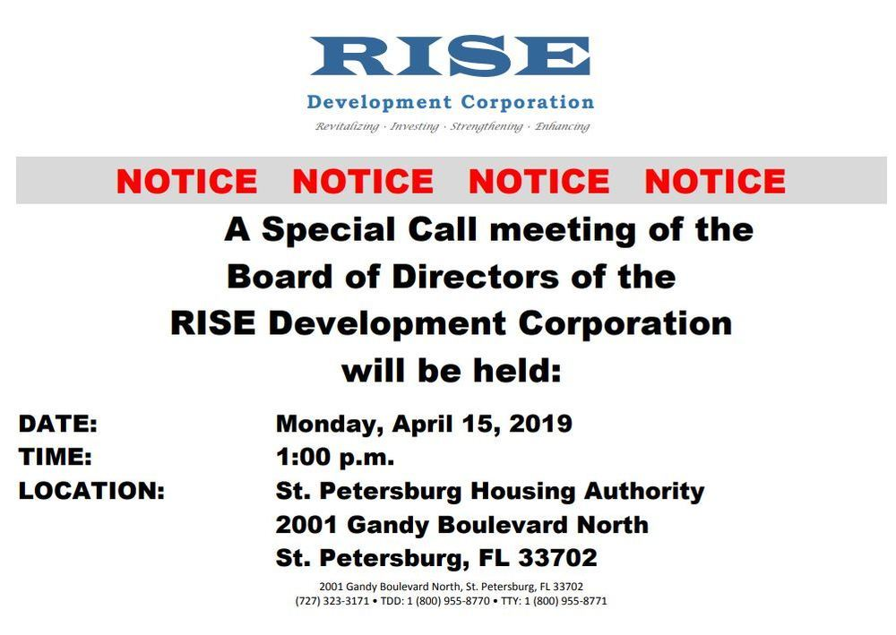 4/15 Special Meeting Notice RISE