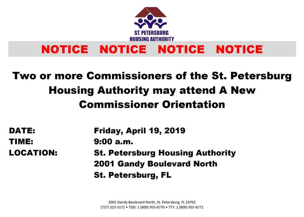 New Commissioner Orientation 4/19