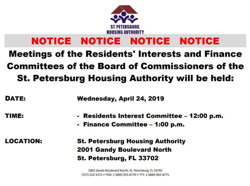 RI & Finance Committee Meeting 4/24
