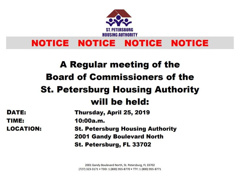 Public Notice Image for April 25th Regular Board meeting